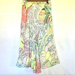 TRIBAL Women's Floral Asymmetrical Floral Skirt